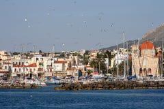Isola greca Aegina Fotografia Stock Libera da Diritti