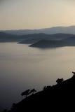 Isola greca dei lesvos Fotografia Stock