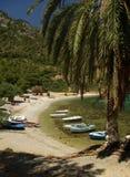 Isola greca Samos - spiaggia di Mourtia Fotografia Stock Libera da Diritti