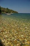 Isola greca Samos, spiaggia di Platanaki Immagine Stock