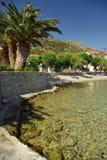 Isola greca Samos - spiaggia di Poseidonio Fotografie Stock
