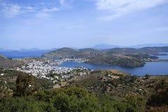 Isola Grecia di Patmos Fotografia Stock