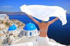 Isola Grecia di Santorini Fotografie Stock