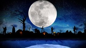 Isola Halloween del mostro stock footage