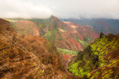 Isola Hawai di Kauai del canyon di Waimea Fotografie Stock