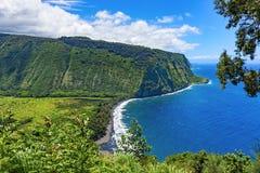 Isola Hawai U.S.A. dell'allerta della valle di Waipio grande Fotografie Stock