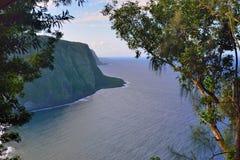 Isola Hawai U.S.A. dell'allerta della valle di Waipio grande Immagine Stock