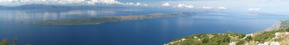 Isola Hvar da Sutvid. Fotografia Stock