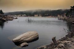 Isola Ikaria del lago Pezi Fotografia Stock Libera da Diritti