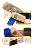Isola il telefono cellulare vecchio Fotografia Stock
