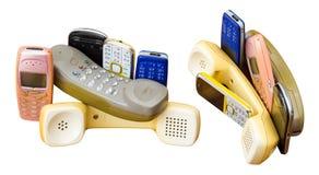 Isola il telefono cellulare vecchio Immagine Stock