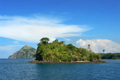 Isola incontaminata tropicale Fotografia Stock Libera da Diritti