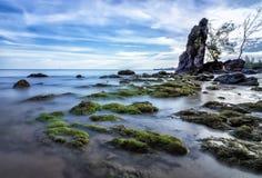 Isola Indonesia del singkep della spiaggia di Batu Bungkkok Immagine Stock Libera da Diritti