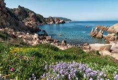 Isola Italia di Costa Paradiso Sardinia fotografie stock