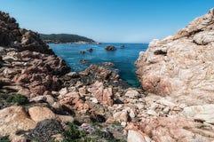 Isola Italia di Costa Paradiso Sardinia immagini stock