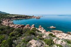 Isola Italia di Costa Paradiso Sardinia immagini stock libere da diritti