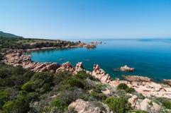 Isola Italia di Costa Paradiso Sardinia immagine stock libera da diritti