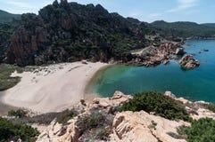 Isola Italia di Costa Paradiso Sardinia della spiaggia di Li Cossi fotografia stock