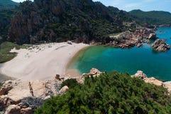 Isola Italia di Costa Paradiso Sardinia della spiaggia di Li Cossi immagini stock libere da diritti