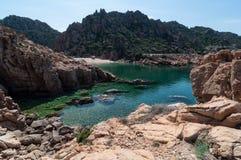 Isola Italia di Costa Paradiso Sardinia della spiaggia di Li Cossi immagine stock