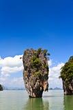 Isola Ko Tapu del James Bond in Tailandia Fotografie Stock Libere da Diritti