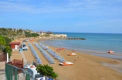 Isola La Chianca海滩 免版税图库摄影