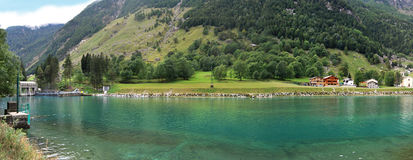 Isola lake. San giacomo valley, lombardy region Royalty Free Stock Photo