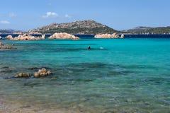 Isola Maddalena in Sardinien Stockbild