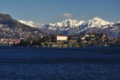 Isola Madre, lago (Lago) Maggiore nell'inverno, Italia Immagini Stock Libere da Diritti