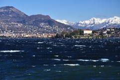 Isola Madre, lago (Lago) Maggiore nell'inverno, Italia Immagini Stock