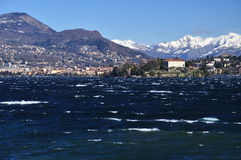Isola Madre, Lake (Lago) Maggiore in Winter, Italy stock images