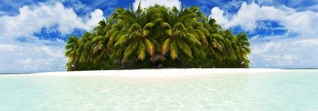 Isola in Maldive fotografie stock