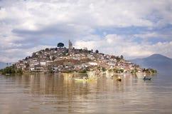 Isola Messico di Janitizo delle reti dei pescatori Fotografia Stock
