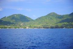 Isola in mezzo al mare Fotografia Stock Libera da Diritti
