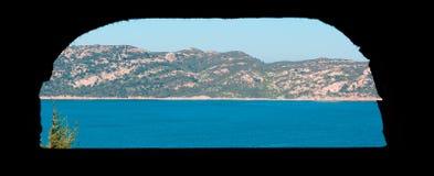 Isola Molara par un hublot photographie stock