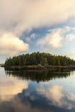 Isola molto piccola Fotografia Stock Libera da Diritti