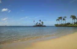 Isola molto piccola fuori dalla spiaggia Fotografia Stock