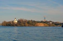 Isola monastica Fotografia Stock Libera da Diritti