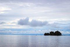 Isola nel lago Onego Fotografie Stock