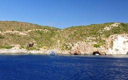 Isola nel Mar Ionio, Zacinto Immagine Stock Libera da Diritti