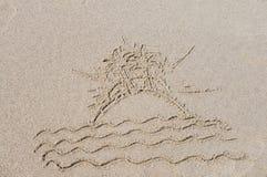 Isola nel mare Fotografie Stock