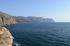 Isola nel mare Fotografia Stock