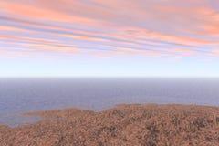 Isola nel mare Illustrazione di Stock