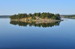Isola nel mare di Baltik Immagine Stock