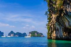 Isola nel mare profondo alla provincia di Krabi Immagine Stock Libera da Diritti