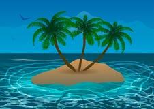Isola nell'oceano Fotografia Stock