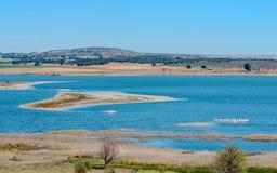 Isola nella laguna dei fenicotteri Fotografia Stock Libera da Diritti