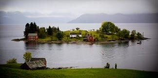 Isola in Norvegia Fotografie Stock Libere da Diritti