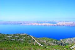 Isola PAG in Croatria Fotografia Stock Libera da Diritti
