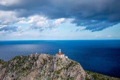 Isola Palagruza il faro Fotografia Stock Libera da Diritti